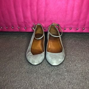 Madewell - Pointed Toe Wedge Flats w Ankle Strap